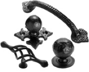 BLACK ANTIQUE CABINET FURNITURE
