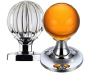 Crystal And Glass Mortice Door Knobs