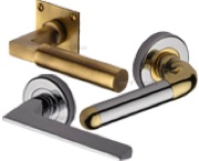 Heritage Brass Door Handles On Rose