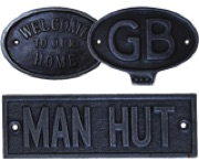 Antique Cast Iron Signage