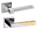 SQUARE ROSE DOOR HANDLES
