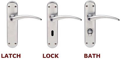 Three styles of levers