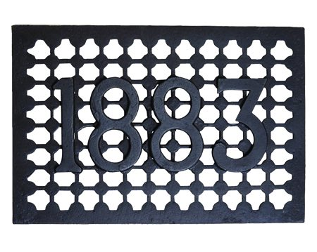 Cottingham '1883' Air Brick / Trivet (228mm x 152mm x 50mm), Antique Cast Iron - 01.690A.AI.231