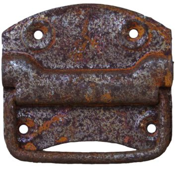 Cottingham Chest Lifting Handle (80mm), Rustic Iron - 03.087B.RU.80 None