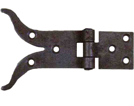 Cottingham 'Moustache' Cabinet Hinge, (100mm) Antique Iron - 03.326A.AI.100