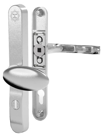Mila \'ProSecure\' Lever/Pad Door Handles, 240mm Backplate - 92mm/62mm ...