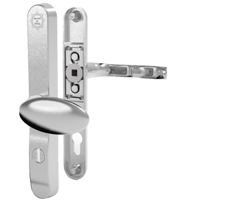 Mila ProSecure Lever/Pad Door Handles, 240mm Backplate - 92mm/62mm C/C Euro Lock, Satin Chrome Finish - 050232 (sold in pairs)
