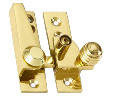 'Croft Architectural' Lockable Reeded Knob Sash Fastener, Various Finishes Available* - 1035L