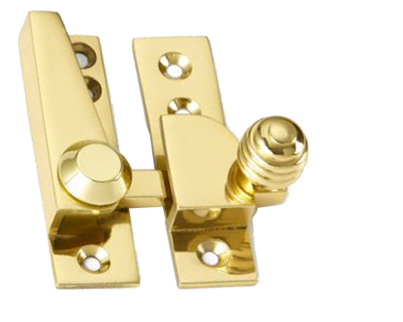 'Croft Architectural' Reeded Knob Sash Fastener, Various Finishes Available* - 1035
