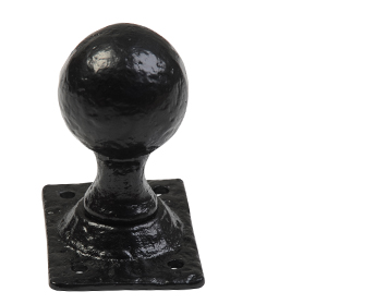 Kirkpatrick Un-Sprung Black Antique Malleable Iron Ball Mortice Door Knob - AB1069 (sold in pairs)