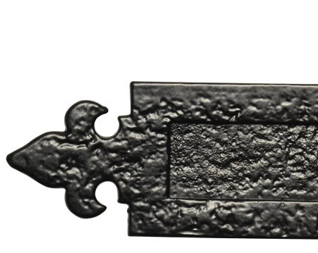 Kirkpatrick Black Antique Malleable Iron Fleur De Lys Letter Plate (Multiple Sizes) - AB1073