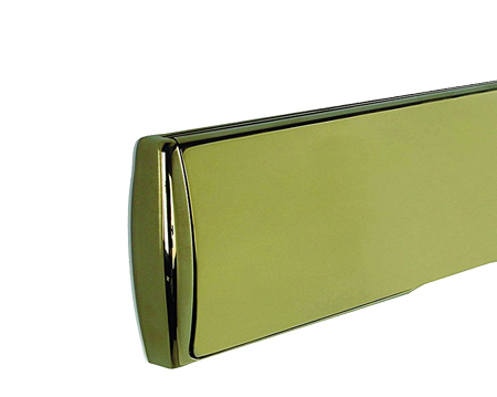Mila 'ProStyle' uPVC Telescopic Letter Box (310mm x 76mm), Polished Gold (PVD) - 110924