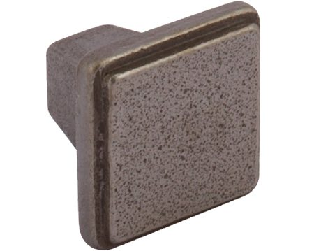Hafele 'Conwy' Square Cupboard Knob, 32mm, Natural Iron - 119.25.940