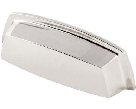 Hafele 'Lysander' Cup Handle, 96mm, Polished Nickel - 119.29.714