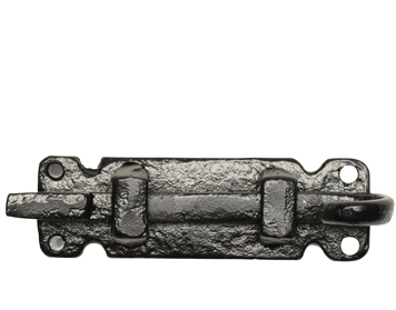 Kirkpatrick Black Antique Malleable Iron 'Cranked Door Bolt' (101mm) - AB1547