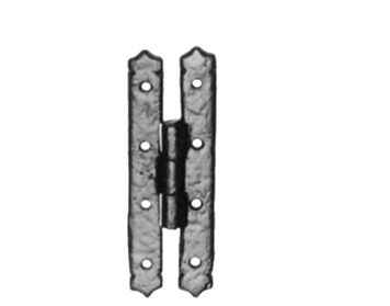 Kirkpatrick Black Antique Malleable Iron Cabinet Hinge (4 Inch) - AB1558 (sold in pairs)