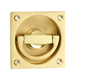 'Croft Architectural' Small Flush Latch Ring Door Handles, 65mm x 65mm *Various Finishes Available - 1805-A (sold in singles)