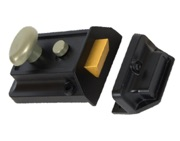 From The Anvil Traditional Night Latch (60mm Backset), Black Case - 18344