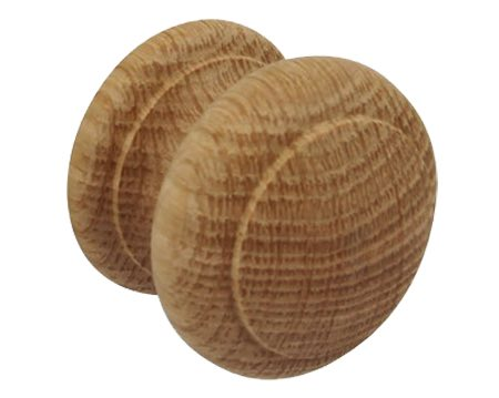 Hafele Wooden Cupboard Knob, 44mm, Unfinished Oak - 195.76.403