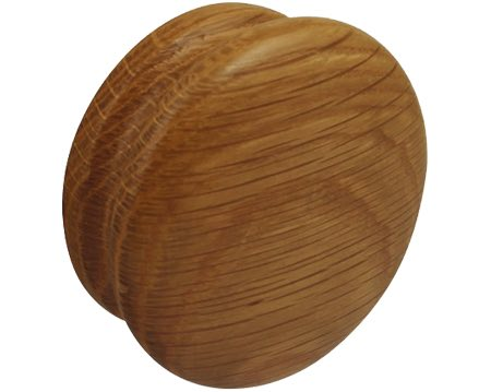 Hafele Wooden 'Bun' Cupboard Knob, 70mm, Unfinished Beech Or Lacquered Oak - 195.83.301