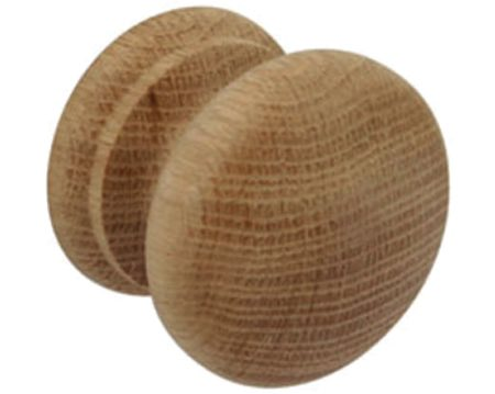 Hafele Wood Cupboard Knob (34mm), Unfinished Oak - 195.77.401
