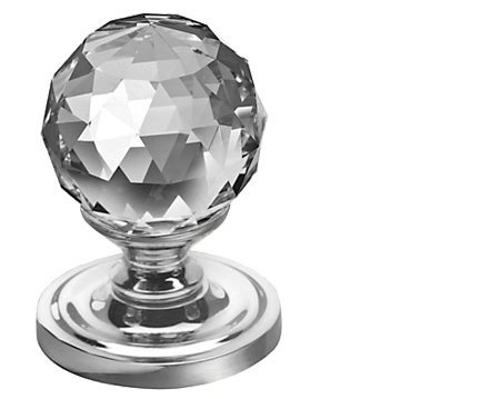 Jedo Collection Swarovski Crystal Mortice Door Knobs (50mm), Polished Chrome, Satin Chrome Or Polished Brass - 2000-50