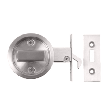 Excel Round Sliding Bathroom Door Lock, Polished Stainless Steel - 2131-PSS