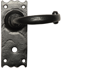 Kirkpatrick Black Antique Malleable Iron Lever Handle - AB2519 (sold in pairs)