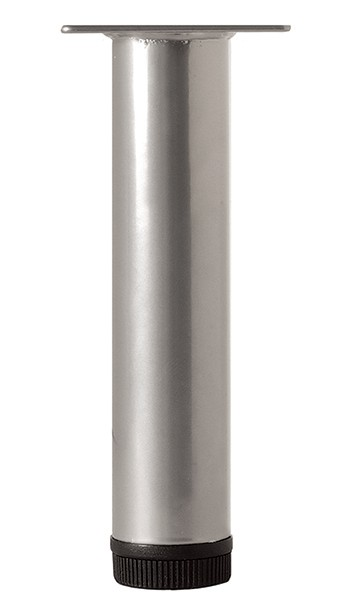 Rothley Furniture Legs, Various Heights, 32mm Dia, Silver Grey - L11XP None