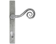 From The Anvil Monkeytail Slimline Espagnolette Door Handles (92mm C/C), Pewter - 33038 (sold in pairs)