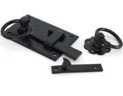 From The Anvil Left or Right Hand Cottage Latch (152mm x 103mm), Black - 33294