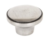 From The Anvil Ribbed Cabinet Knob (32mm), Natural Smooth - 33365