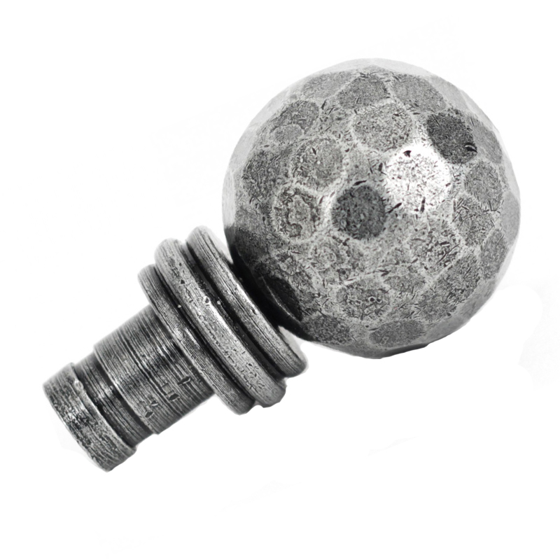 Beaten Ball Finial, Pewter - 33397 (Sold in pairs)