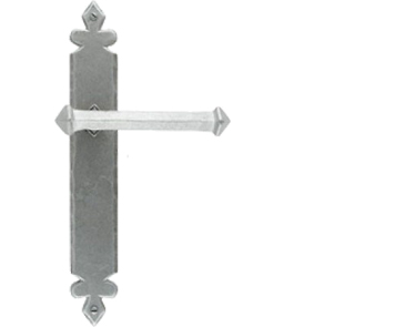 From The Anvil Tudor Door Handles, Pewter - 33608 (sold in pairs)
