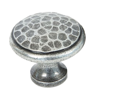Beaten Cupboard Knob (20mm, 30mm Or 40mm), Pewter - 33625