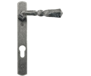 Narrow Lever Espagnolette, Unsprung Door Handles, Pewter - 33633 (sold in pairs)