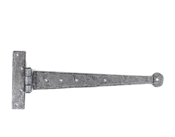 From The Anvil T-Hinges (12 Inch), Pewter - 33652 (sold in pairs)