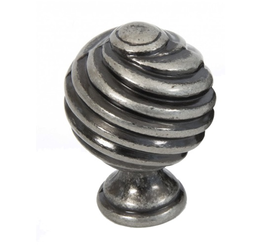 From The Anvil Twist Cabinet Knob (30mm), Pewter - 33691 None