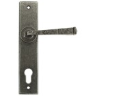 From The Anvil Avon Lever Espagnolette Un-Sprung Door Handles (92mm C/C), Pewter - 33704 (sold in pairs)