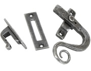 From The Anvil Left Or Right Handed Monkeytail Locking Window Fastener, Pewter - 33725