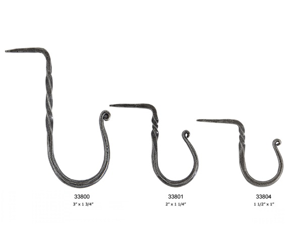 From The Anvil Cup Hooks (Large, Medium OR Small), Pewter - 33800 None