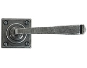 From The Anvil Avon Lever On Rose Sprung Door Handles, Pewter - 33874/S (sold in pairs)