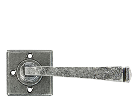 Avon Lever On Rose Unsprung Door Handles, Pewter - 33874 (sold in pairs)