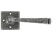 From The Anvil Avon Lever On Rose Unsprung Door Handles, Pewter - 33874 (sold in pairs)
