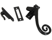 From The Anvil Left Or Right Handed Deluxe Monkeytail Locking Window Fastener, Black - 33881