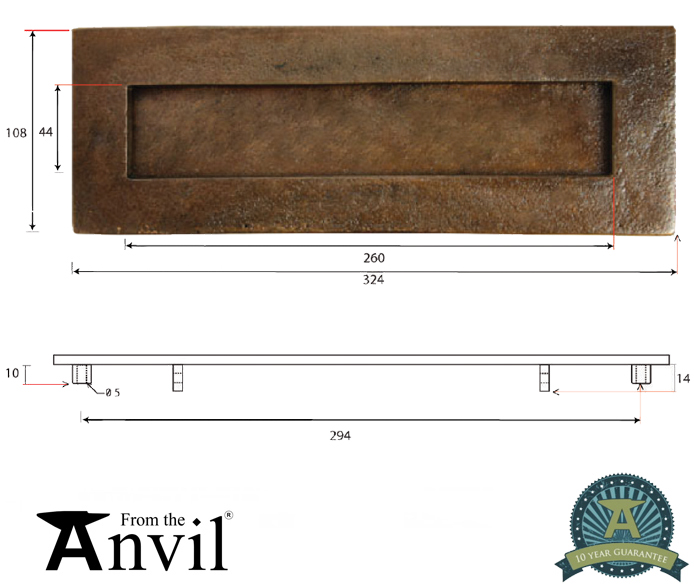 Large Letter Plate Bronze 33921 From The Door Handle