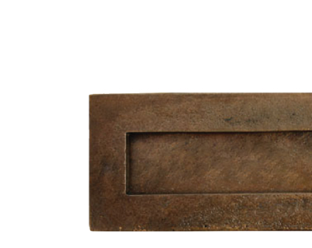 Large Letter Plate, Bronze - 33921