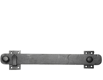 Kirkpatrick Smooth Black Malleable Iron Shutter Bar (Various Sizes) - AB3413