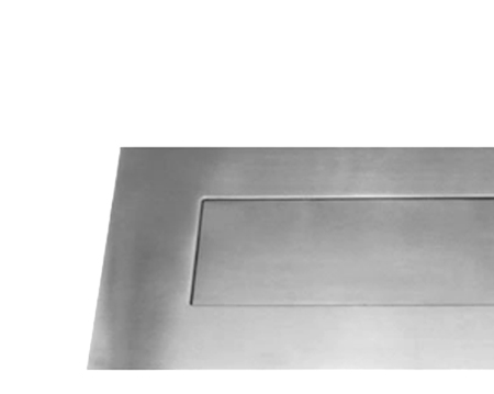 Stainless Steel Letter Plates, 330mm X 110mm, Polished Or Satin Finish - 34510/11