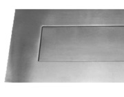 Frisco Stainless Steel Letter Plates, 330mm x 110mm, Polished Or Satin Finish - 34510/11